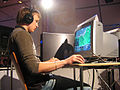 Fury playing a game on ESWC 2005 Paris.jpg
