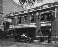 Future-mayor and public housing administrator William P. Yoerg in front of Yoerg's Garage, Holyoke, Massachusetts (1922).png