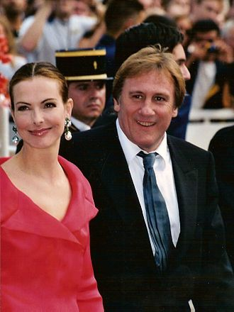 Gérard Depardieu - Depardieu with Carole Bouquet at the 2001 Cannes Film Festival