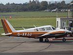 G-AVJJ Piper Twin Comanche 30 (29990507130).jpg