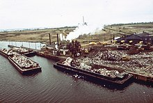 Garbage Scows Bring Solid Waste To Plant 2 At Fresh Kills Landfill 1973