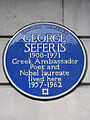 GEORGE SEFERIS 1900-1971 Greek Ambassador Poet and Nobel laureate lived here 1957-1962.JPG