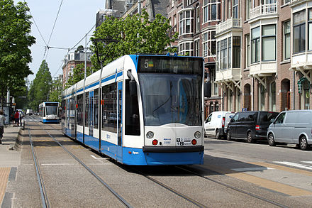 Le tramway d'Amsterdam.
