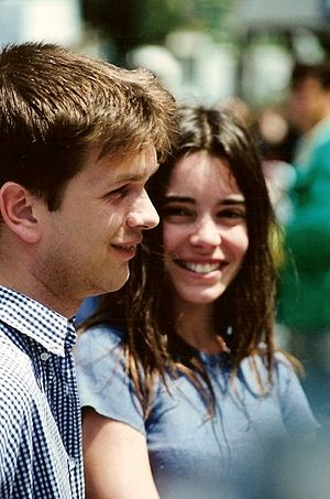 Wild Reeds - Stars Gaël Morel and Élodie Bouchez promoting the film at the 1994 Cannes Film Festival.