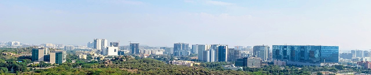 Gachibowli IT & Financial District Skyline View, Dec 2018.jpg
