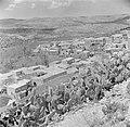 Galilea, het druzendorp Peki'in. Gezicht op het dorp met de omliggende heuvels e, Bestanddeelnr 255-0131.jpg