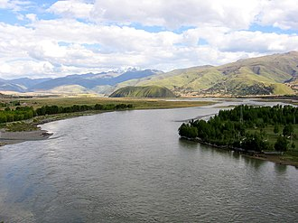 Yalong River - The Yalong River at Ganzi