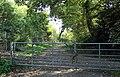 Gated entrance to Landican Lane footpath.jpg