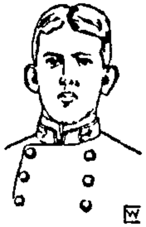 Gatewood Lincoln - A sketch of Lincoln in 1896, recently graduated from the Naval Academy.