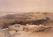 Painting of Gaza by David Roberts, 1839