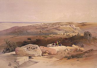 Gaza City - Painting of Gaza by David Roberts, 1839