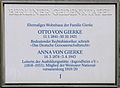 Gedenktafel Carmerstr 12 Otto von Gierke.JPG