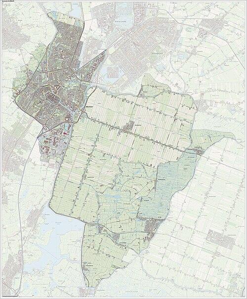 Topografisch kaartbeeld van de gemeente Alkmaar