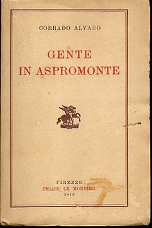 Gente in Aspromonte, Firenze, Le Monnier, 1930 - (coll. Angelo Bastone)