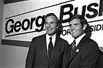 George Bush with Tom Kleppe Jr. during his campaign for President. 1980.jpg