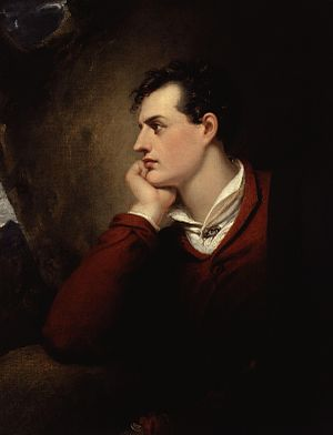 Lord Byron - Portrait of Lord Byron by Richard Westall
