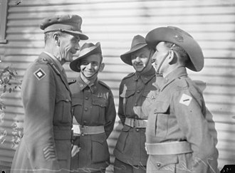 George Alan Vasey - Vasey chats with three of his men. Vasey's concern for and rapport with his men was a key factor in his success as a general.