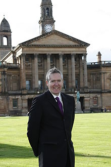 George outside Paisley'sTown Hall.JPG