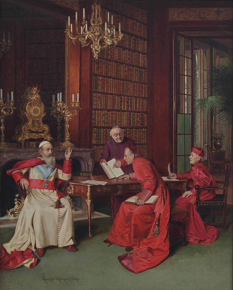 Жорж Кроегерт - Российский патриарх, посещающий cardinals.jpg