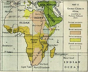 East African Campaign (World War I) - Image: Ger claims Prof Delbruck 1917