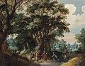 Gerard de la Vallée - Forest landscape with Christ and the Centurion.jpg
