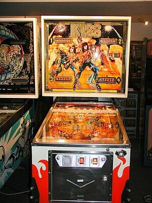 Kiss merchandising - The German Kiss pinball machine.
