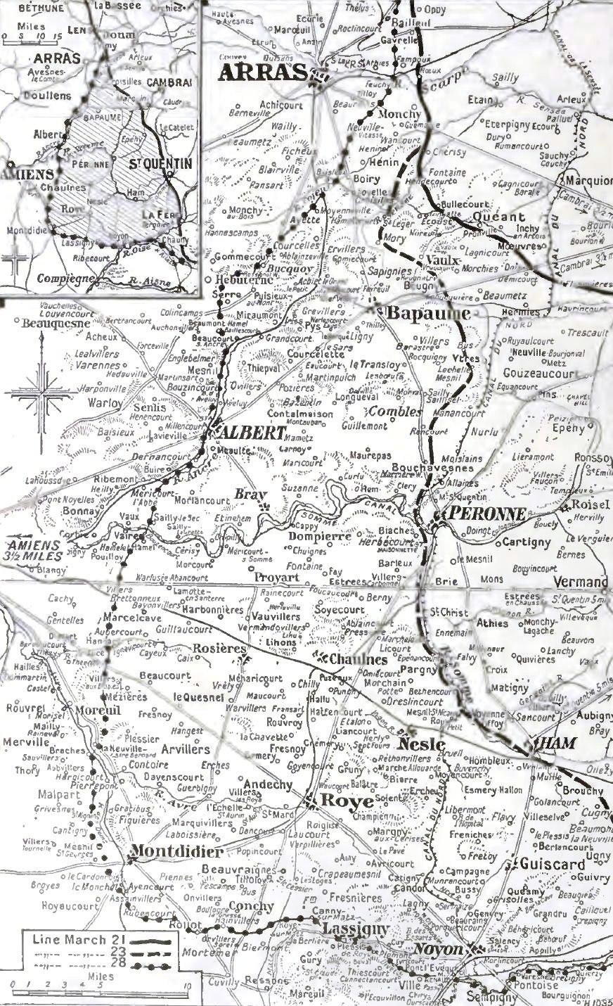 German advance, 23-28 March 1918