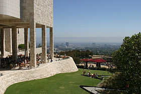 Les jardins du Getty Center.