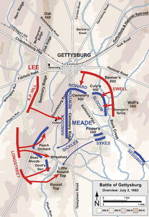 Overview map of the second day of the Battle o...