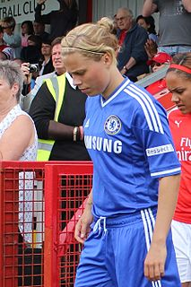 Gilly Flaherty Arsenal and England ladies footballer
