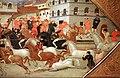 Giovanni francesco toscani, fronte di cassone con il palio della corsa dei barberi a firenze, 1418, 04.jpg