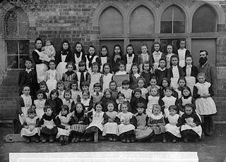Girls, Carno school (1890)