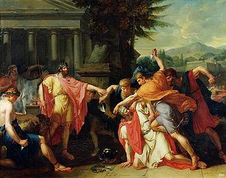 Romulus - Image: Girodet La mort de Tatius