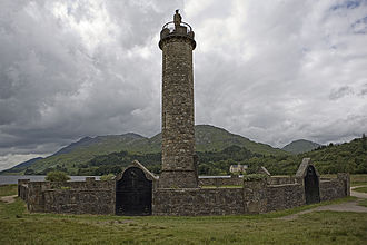 Glenfinnan - The monument at Glenfinnan