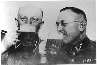 Poniatowa concentration camp - SS-Hauptsturmführer Gottlieb Hering (right) with Oberscharführer Heinrich Gley, on break
