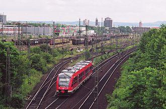 Hanoverian Southern Railway - A railcar leaves Göttingen towards Nordhausen (South Harz line).