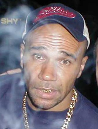 Goldie - Goldie at a rave in 2003