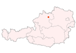 Map of Austria, position of Gallneukirchen highlighted