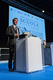 Giorgio Gori interviene agli Stati Generali della scuola digitale.