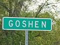 Goshen city sign on US-6 in Utah, May 16.jpg