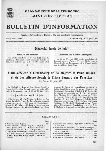 File:Grand-Duché de Luxembourg, Bulletin d'information 6, 30 juin 1951.pdf