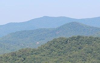 Grassy Ridge - Grassy Ridge viewed from Georgia State Route 246
