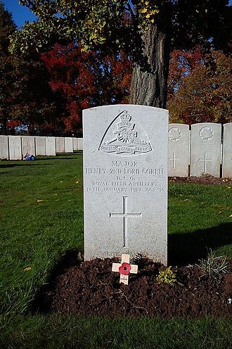 Henry Barnes, 2nd Baron Gorell - The grave of Henry Barnes, 2nd Baron Gorell (1882-1917), at Lijssenthoek Military Cemetery, near Ypres, Belgium