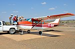 Gravity refuelling of a Cessna 206 on a farm (Namibia).jpg