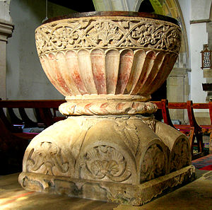 Great and Little Kimble - The font (of 'Aylesbury' type) (c1190)