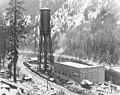 Great Northern Railroad powerhouse, Tumwater Canyon, Wenatchee River (CURTIS 1606).jpeg