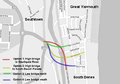 Great Yarmouth third river crossing proposals.png