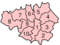 Map of Greater Manchester districts