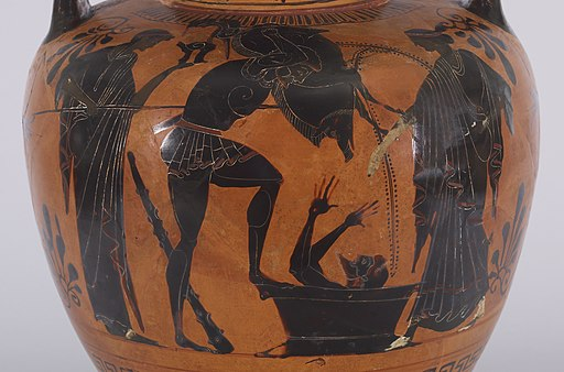 Greek - Herakles and the Erymanthian Boar - Walters 48253 - Detail A