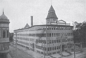Grover Shoe Factory disaster - R.B. Grover Shoe factory before explosion